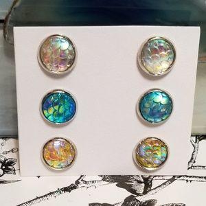 Jewelry - Iridescent Mermaid Earring Set